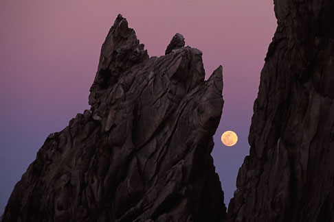 image 0-50-8 Mexico, Cabo San Lucas, Full moon, Lands End