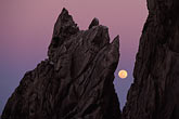 setting stock photography | Mexico, Cabo San Lucas, Full moon, Land