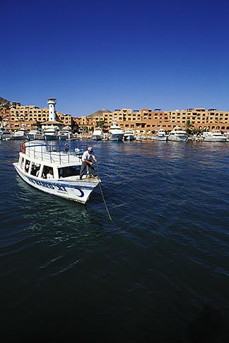 image 0-50-99 Mexico, Cabo San Lucas, Leisure boat moored in harbor
