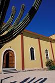 cacti stock photography | Mexico, Baja California Sur, Todos Santos, Iglesia Nuestra Se�ora del Pilar, image id 0-65-20