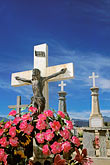 crucifix stock photography | Mexico, Baja California Sur, Santiago, Cemetery, image id 0-66-12