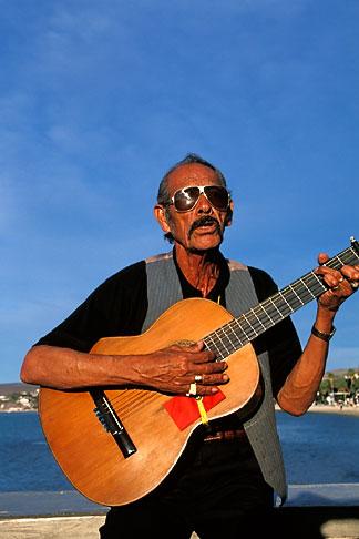 image 0-81-57 Mexico, La Paz, Man playing guitar