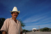 dry stock photography | Mexico, Baja California Sur, La Huerta, Man with sombrero, image id 0-82-17
