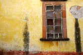rundown stock photography | Mexico, San Miguel de Allende, Window and painted wall, image id 4-263-9