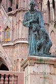 two people stock photography | Mexico, San Miguel de Allende, Statue of Fray Juan de San Miguel, La Parroquia, image id 4-272-20