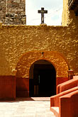 entrance stock photography | Mexico, San Miguel de Allende, Courtyard, Iglesia de San Francisco, 1779, image id 4-279-2