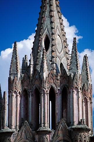 image 4-279-33 Mexico, San Miguel de Allende, Steeple of La Parroquia de San Miguel
