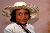 hat stock photography | Mexico, San Miguel de Allende, Young girl from nearby San Ildefonso , image id 4-283-20