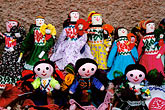 arts and crafts stock photography | Mexico, San Miguel de Allende, Dolls for sale by street vendor, image id 4-283-8