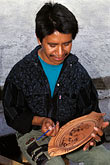 crafts people stock photography | Mexico, San Miguel de Allende, Hand-painting stoneware, Mercado de Artisanes, image id 4-288-30