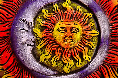 image 4-850-2772 Mexican art, Sun and Moon