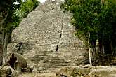ancient stock photography | Mexico, Yucatan, Coba, La Iglesia, image id 4-850-2833