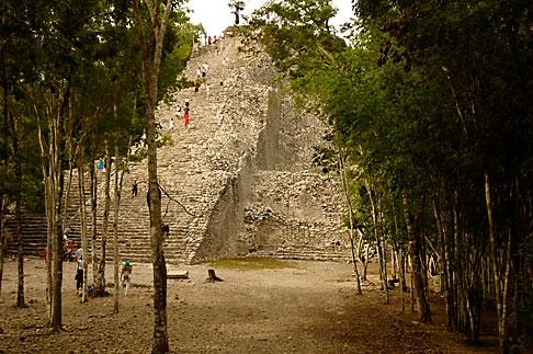 image 4-850-2852 Mexico, Yucatan, Coba, El Castillo