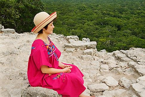 image 4-850-2872 Mexico, Yucatan, Coba, El Castillo pyramid, Nohoch Mul group
