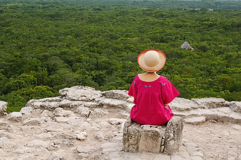 image 4-850-2882 Mexico, Yucatan, Coba, El Castillo pyramid, Nohoch Mul group