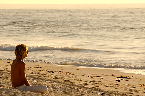 image 4-850-2922 Mexico, Tulum, Meditation on the beach