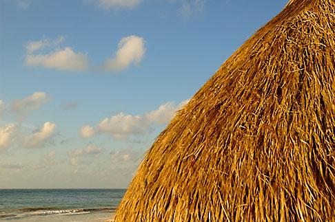 image 4-850-2942 Mexico, Riviera Maya, Tulum, Palapa on the beach