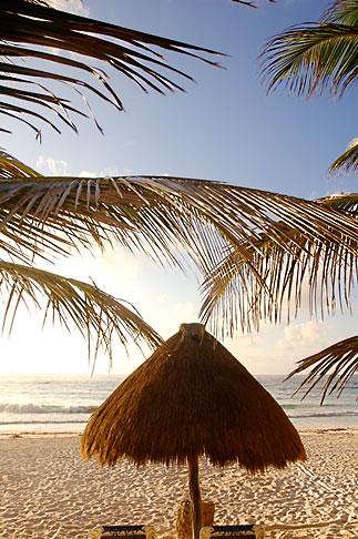 image 4-850-2945 Mexico, Riviera Maya, Tulum, Palapa on the beach