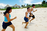 three teenagers stock photography | Mexico, Riviera Maya, Xcacel beach, image id 4-850-3141