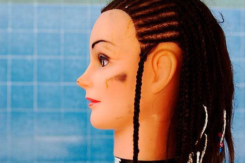 image 4-850-3273 Still Life, Braids on mannequin