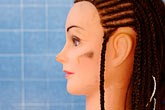 blue stock photography | Still Life, Braids on mannequin, image id 4-850-3277