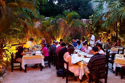 image 4-850-3376 Mexico, Playa del Carmen, Yaxche restaurant