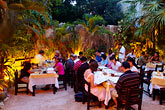 evening stock photography | Mexico, Playa del Carmen, Yaxche restaurant, image id 4-850-3376