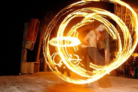 image 4-850-3585 Mexico, Playa del Carmen, Fire dancer