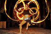 one young woman stock photography | Mexico, Playa del Carmen, Fire dancer, image id 4-850-3619