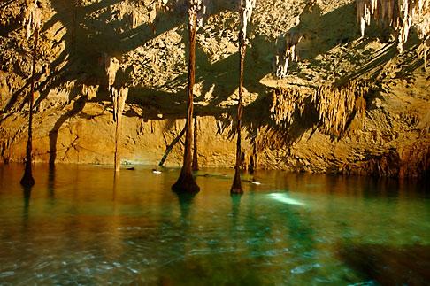 image 4-850-3716 Mexico, Riviera Maya, Hidden Worlds cenote, underground pool