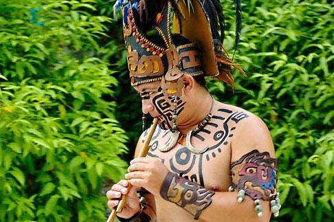 image 4-850-3834 Mexico, Riviera Maya, Xcaret, Folkloric show