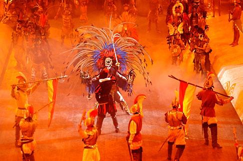 image 4-850-3864 Mexico, Riviera Maya, Xcaret, Folkloric show