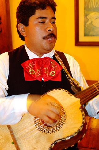 image 4-850-3985 Mexico, Playa del Carmen, Mariachi musician