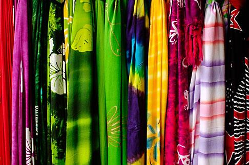 image 4-850-4307 Mexico, Riviera Maya, Fabrics in shop