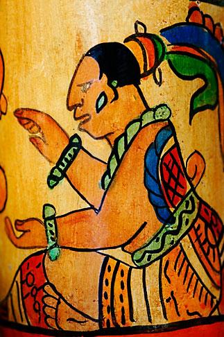 image 4-850-4612 Mexico, Riviera Maya, Detail of Mayan design