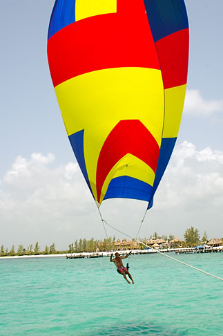 image 4-850-4935 Mexico, Riviera Maya, Playa Maroma, riding the spinnaker