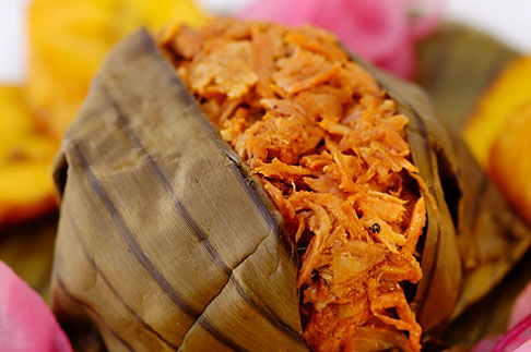 image 4-850-5141 Mexican Food, Cochinita Pibil, banana leaf wrapped pork cooked barbacoa style