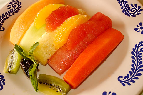 image 4-850-5372 Fruit, Fruit salad, papaya pineapple, grapefruit, melon