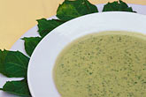 garnish stock photography | Mexico, Yucatan, Cream of chaya soup, image id 4-872-19