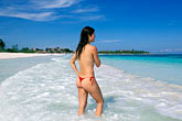 shore stock photography | Mexico, Riviera Maya, Xpu Ha Beach, woman sunbathing, image id 4-882-15