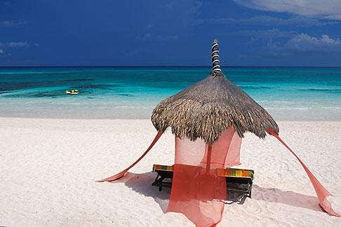 image 4-882-88 Mexico, Riviera Maya, Xpu Ha Beach, Al Cielo, Palapa
