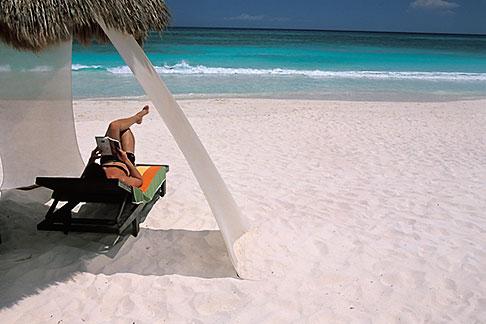 image 4-882-90 Mexico, Riviera Maya, Xpu Ha Beach, Al Cielo, Palapa