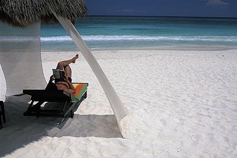 image 4-882-91 Mexico, Riviera Maya, Xpu Ha Beach, Al Cielo, Palapa