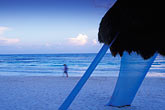 evening stock photography | Mexico, Riviera Maya, Xpu Ha Beach, Al Cielo, Palapa, image id 4-882-97