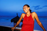 one woman only stock photography | Mexico, Riviera Maya, Xpu Ha, Al Cielo Restaurant, portrait, image id 4-883-21