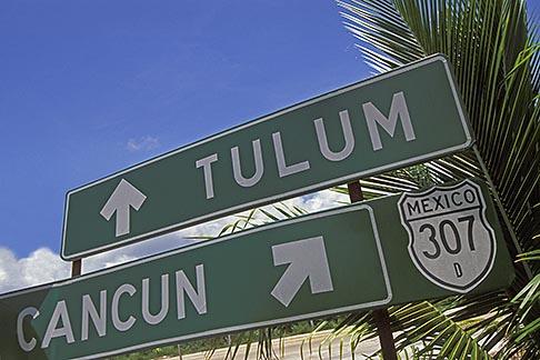 image 4-885-36 Mexico, Riviera Maya, Highway sign