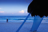 evening stock photography | Mexico, Riviera Maya, Xpu Ha Beach, Al Cielo, Palapa, image id 4-886-1