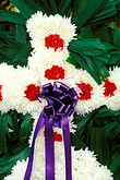 funerary stock photography | Mexico, Xochimilco, Flowered funeral cross, image id 5-15-22
