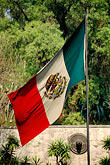 flag stock photography | Mexico, Mexico City, Mexican flag, Tepeyac, image id 5-25-33
