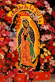 mexico city stock photography | Mexican Art, Floral display for the Virgin of Guadalupe, image id 5-27-34